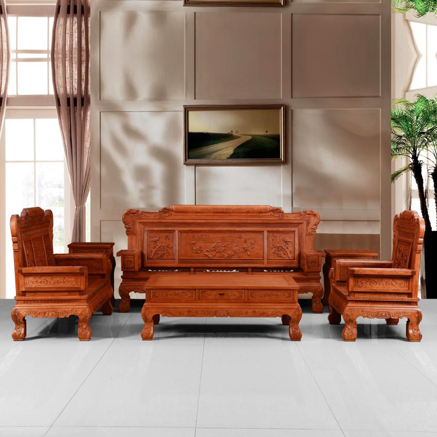 k1035喜庆满堂沙发 -沙发产品-商城-众博红木家具服务