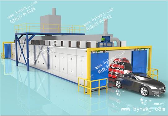 桥车模块化燃气催化红外烘干室
