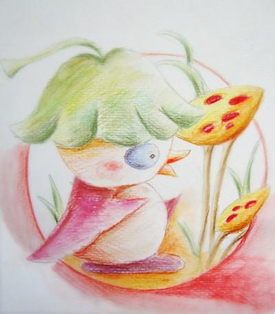 cn 宽564x551高       叶罗丽:分享5幅美女彩铅画,曼多拉表情很无辜图片