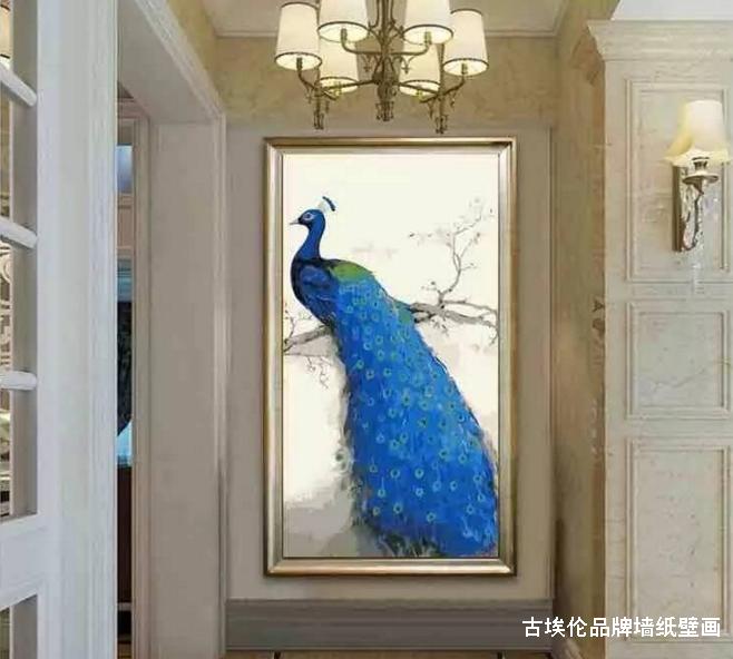 壁画张贴起来很大气,像家里面电视背景墙一般都可以用壁画来装饰墙面