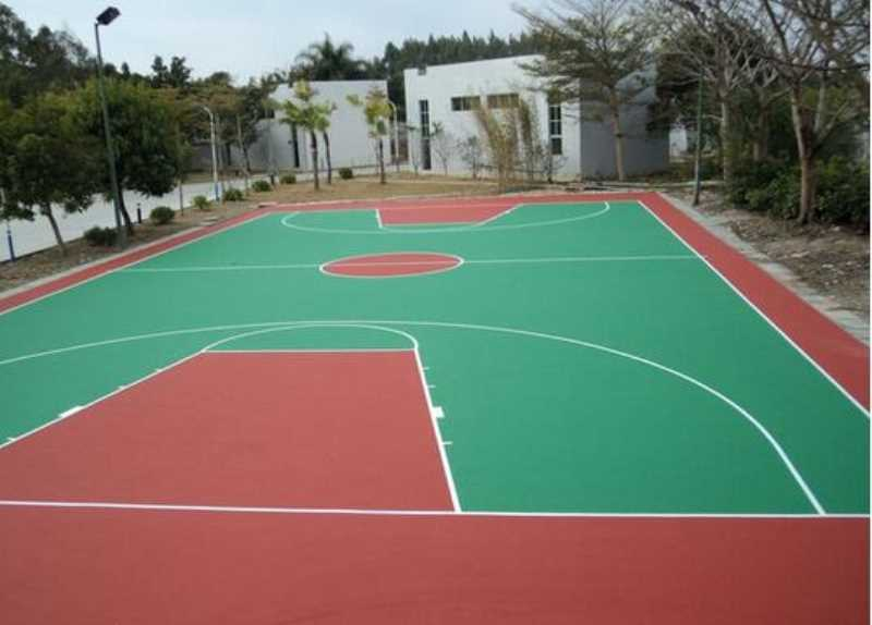 硅PU篮球场-衡阳中学