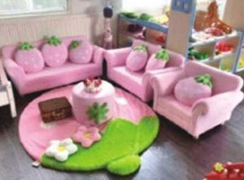 DFC9114粉色莓组合沙发