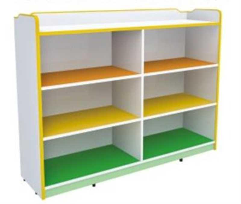 DFC9163 六格带背板玩具柜