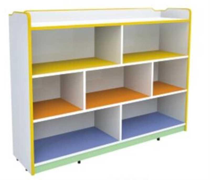 DFC9164 七格带背板玩具柜