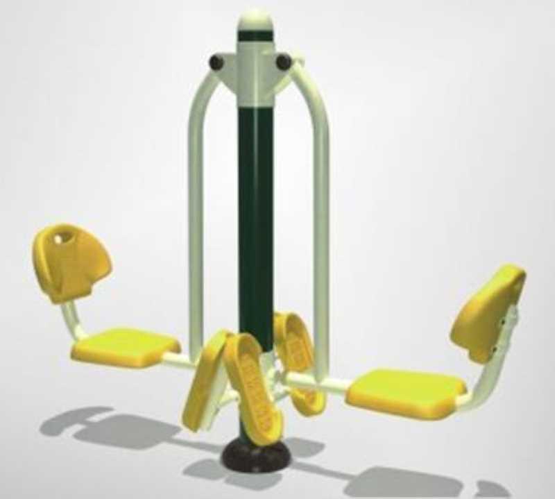 双人坐蹬-南宁健身器材户外路径生产厂家