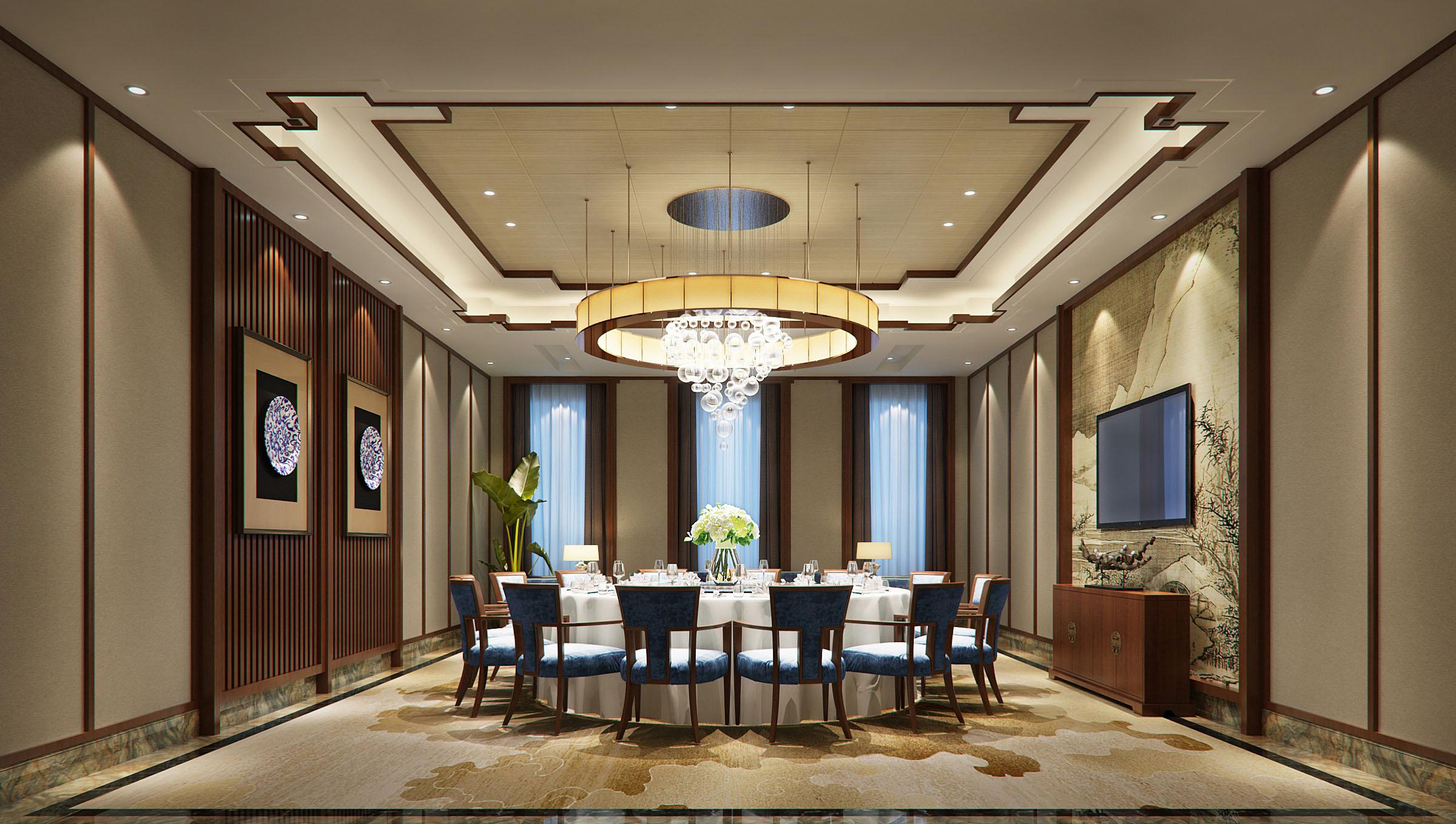 中式餐厅-设计案例-湖北汉人空间装饰设计工程有限公司