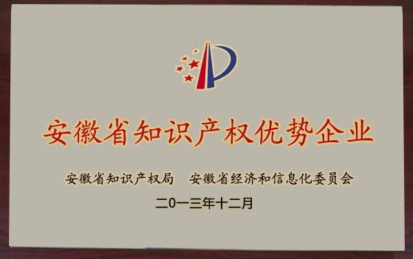 安徽省知識產權優勢企業