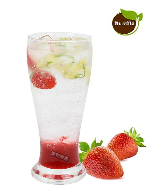 草莓茉莉蜜气泡水