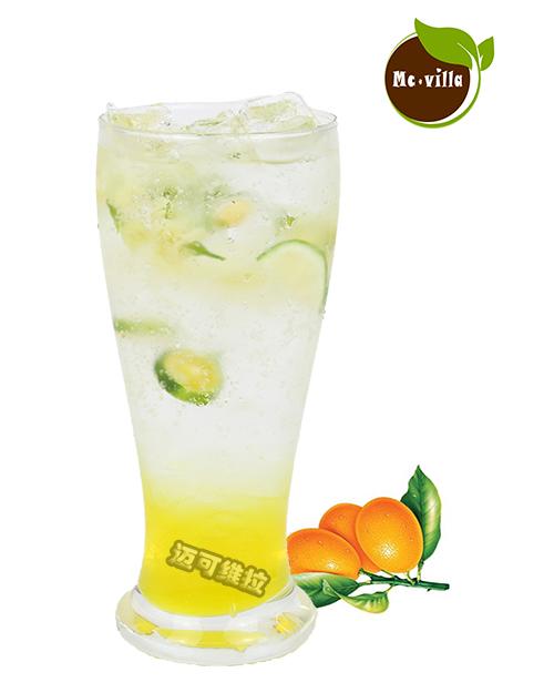 金桔柠檬茉莉蜜气泡水