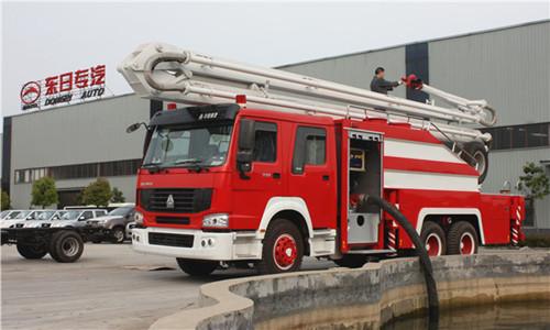 消防车自吸加水