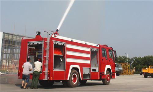 消防车打水