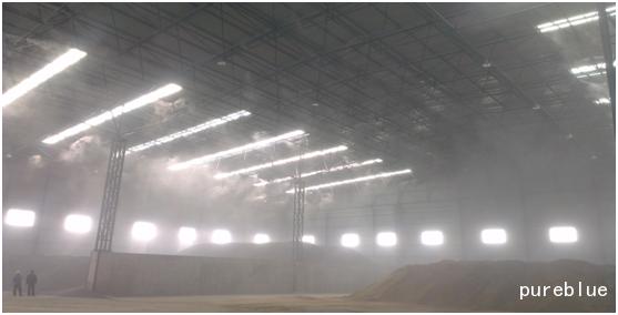 骨料倉及料場噴霧降塵系統