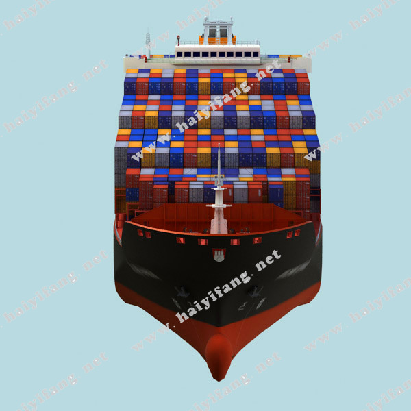 集装箱轮船完全是一种新型的船。它没有内部甲板,机舱设在船尾,船体其实就是一座庞大的仓库,可达300米长,再用垂直导轨分为小舱。当集装箱下舱时,这些集装箱装置起着定位作用,船在海上遇到恶劣天气时,它们又可以牢牢地固定住集装箱。因为集装箱都是金属制成,而且是密封的,里面的货物不会受雨水或海水的侵蚀。集装箱船一般停靠专用的货运码头,用码头上专门的大型吊车装卸,其效率可达每小时10002400吨,比普通杂货船高3070倍。因此为现代船运业所普遍采用。