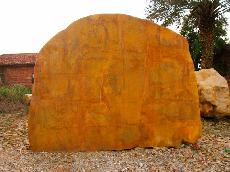 中型刻字石/黄蜡石,可定做。