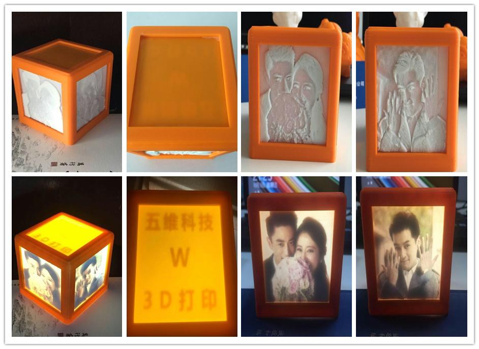 自主研發3D打印炫彩燈箱