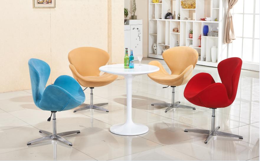 亚博体育苹果APP天鹅椅 雅凡亚博体育app苹果版本直销时尚实木弯板休闲洽谈桌会客桌椅