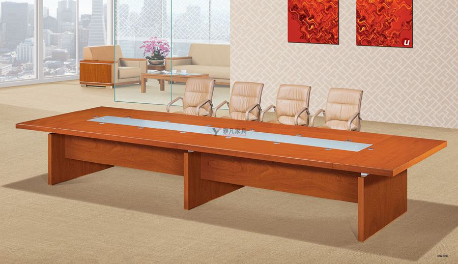 黃金橡木會議桌