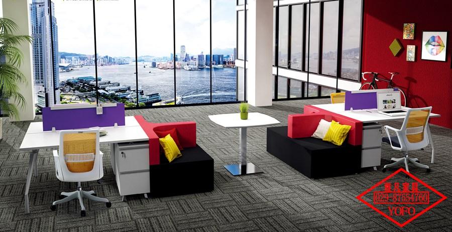 彩色办公家具