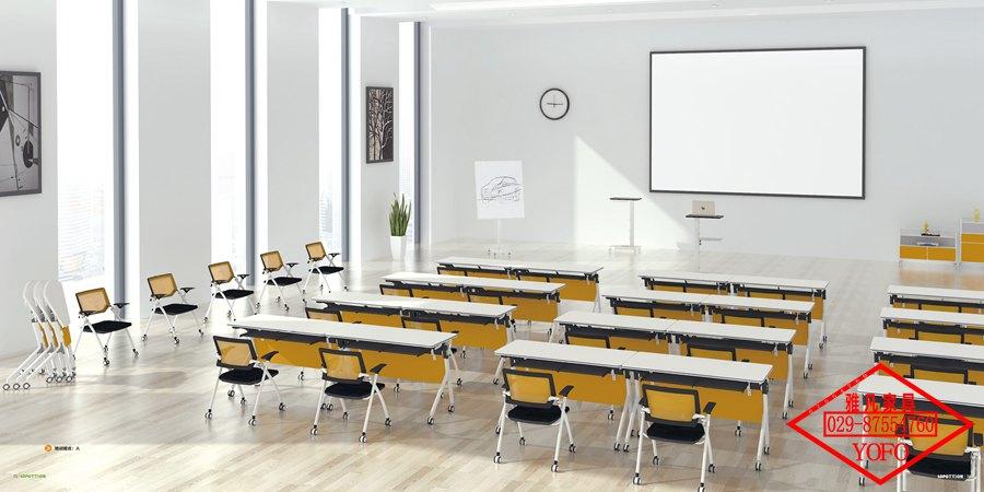折叠桌椅|时尚亚博app苹果下载地址活动会议空间高档钢架折叠桌椅厂价直销