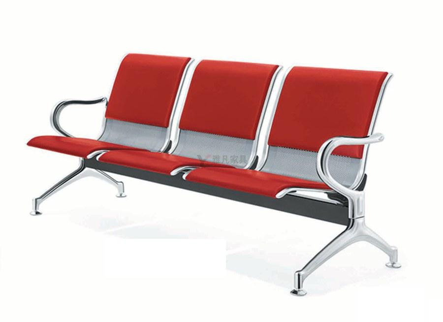 亚博体育苹果APP排椅|公共等候区钢制连排椅批发厂家直销带皮垫排椅