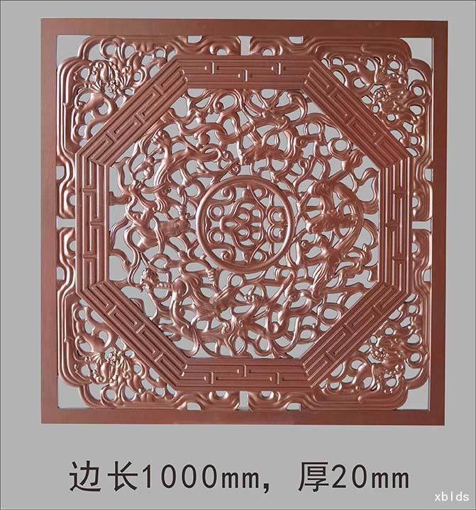 方形镂空雕花板树脂玻璃钢壁画雕塑,颜色材质可依个人喜好定制