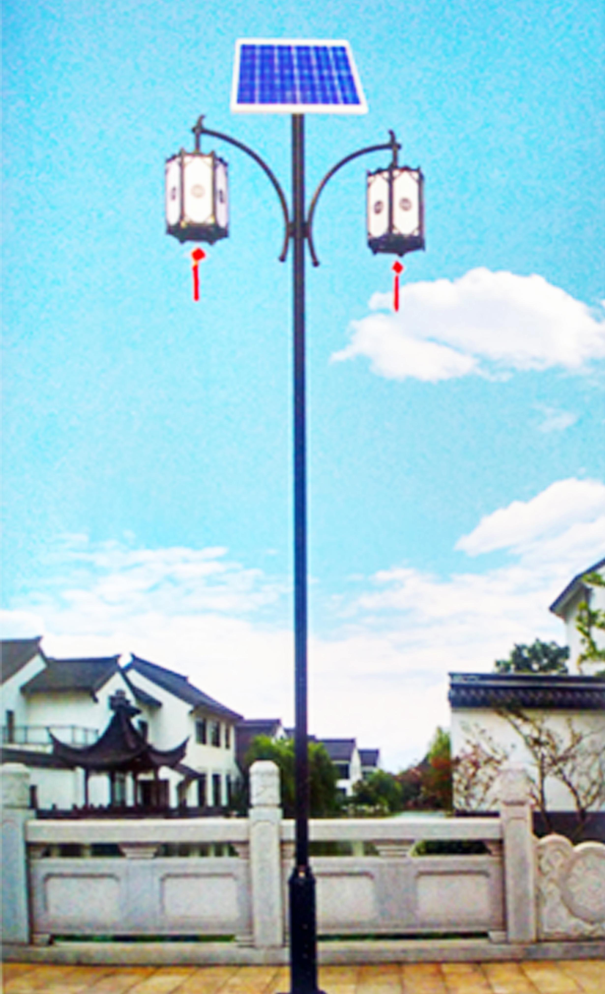 太阳能庭院路灯结构设计富有艺术感
