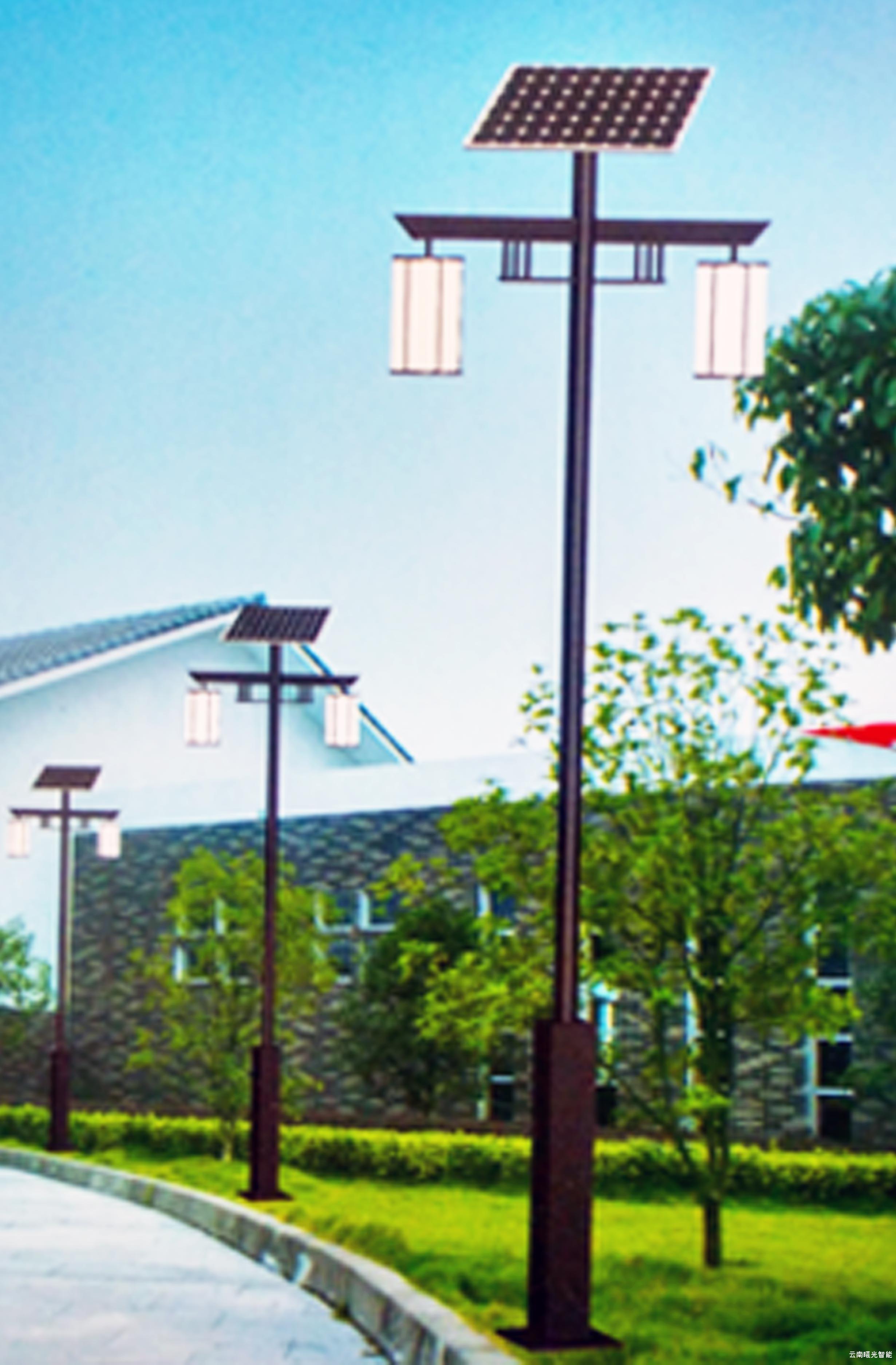 太阳能路灯庭院灯  太阳能庭院路灯结构设计富有艺术