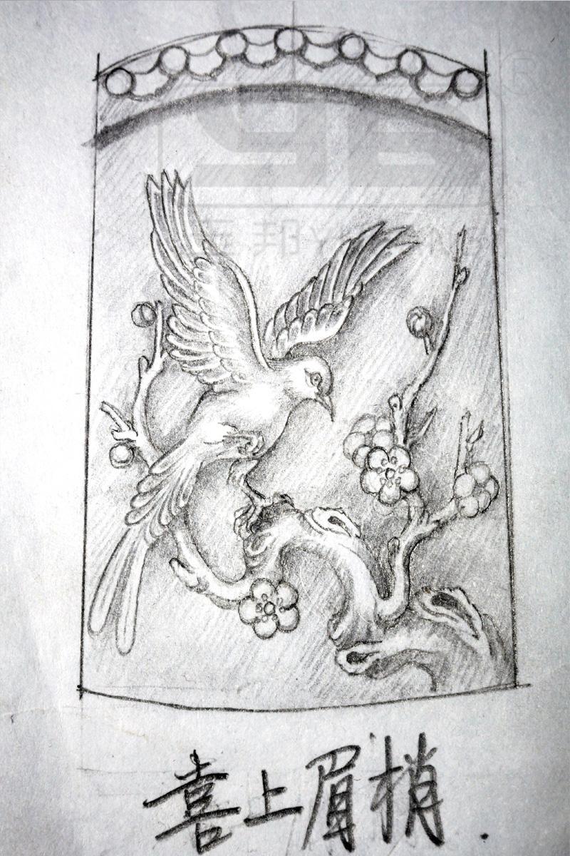 玉雕图片大全,喜鹊系列手绘图,电脑效果图