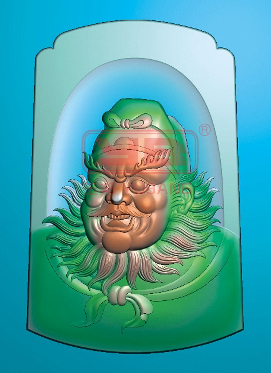 玉雕图纸分类 人物精雕图-系列 刘关张-系列精雕图            名称