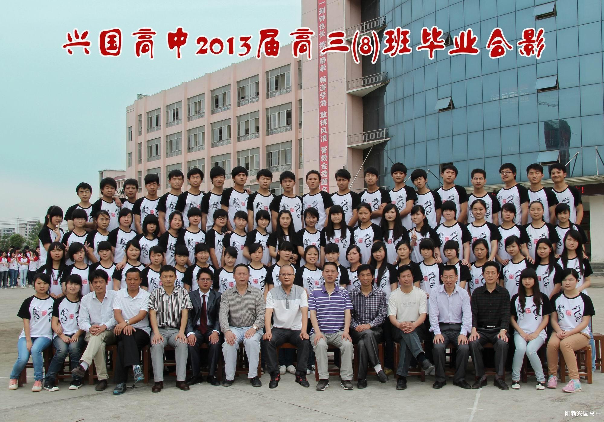 2013届三(8)班同学
