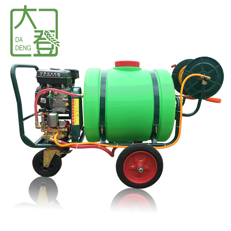 物業帶桶推車式高壓機動農藥打藥清洗機農用稻田汽油噴霧器打藥車
